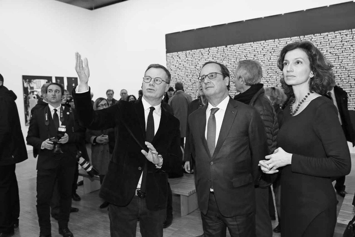 Michel Gauthier, François Hollande, Audrey Azoulay
