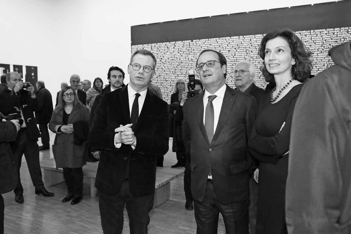 Michel Gauthier, François Hollande, Gérard Fromanger, Audrey Azoulay