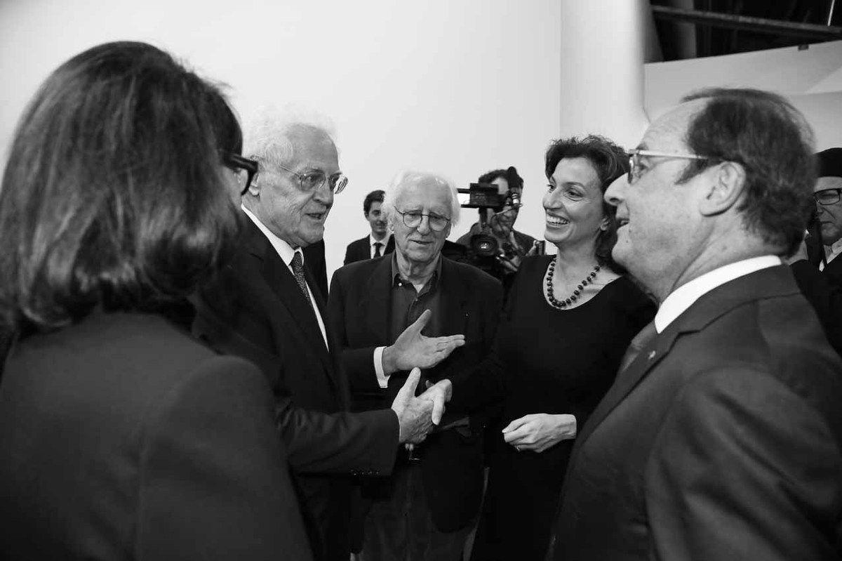 Sylviane Agacinski, Lionel Jospin, Gérard Fromanger, Audrey Azoulay, François Hollande
