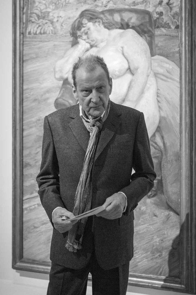 Lucian Freud. Vernissage de l'exposition Lucian Freud. Centre Georges Pompidou. Paris le 7 mars 2010