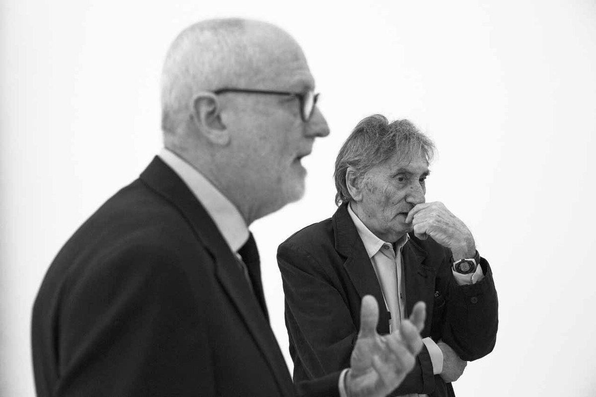 Lorand Hegyi, Giovanni Anselmo. Vernissage des expositions Eté 2015. Musée d'Art Moderne et Contemporain de Saint-Etienne Métropole. Saint Priest en Jarez le 12 juin 2015
