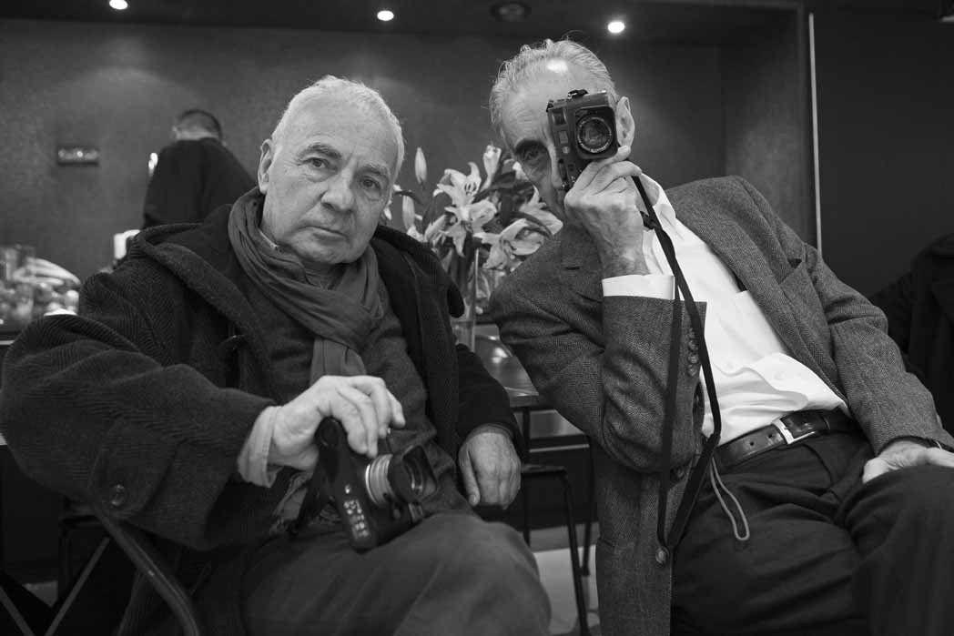 André Morain, Benjamin Katz. Vernissage de l'exposition Le Paris Bar à Paris. Galerie Loft19 de Suzanne Tarasiève. Paris le 8 janvier 2011
