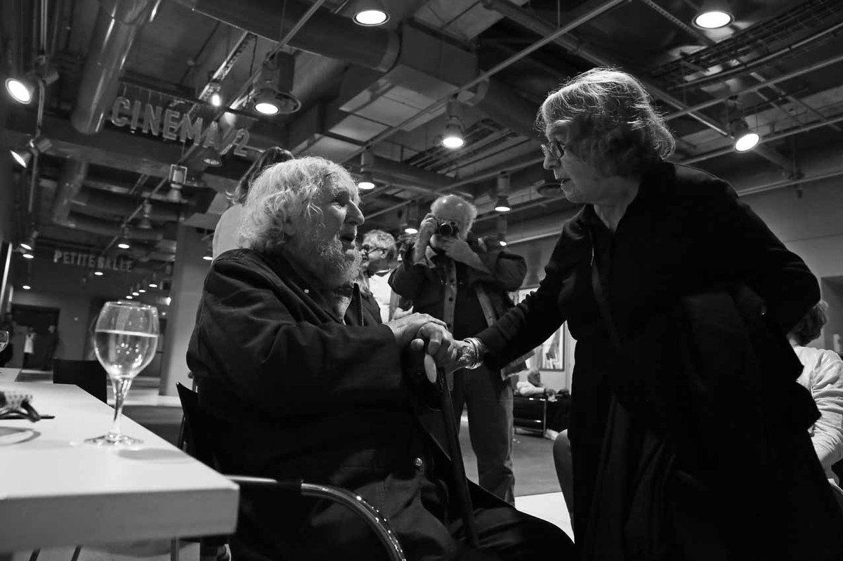 Louis Stettner (1922-2016), Sabine Weiss. Vernissage de l'exposition Louis Stettner. Galerie de Photographies. Centre Georges Pompidou. Paris le 14 juin 2016