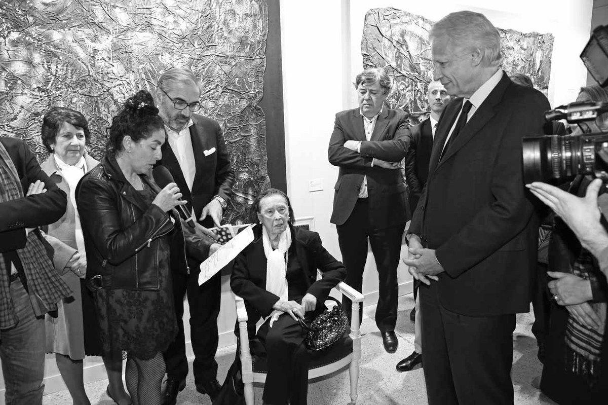 Maria Antunes, Geneviève Combas, Arnaud Péricard, Malou Kijno, Maurice Solignac, Dominique de Villepin