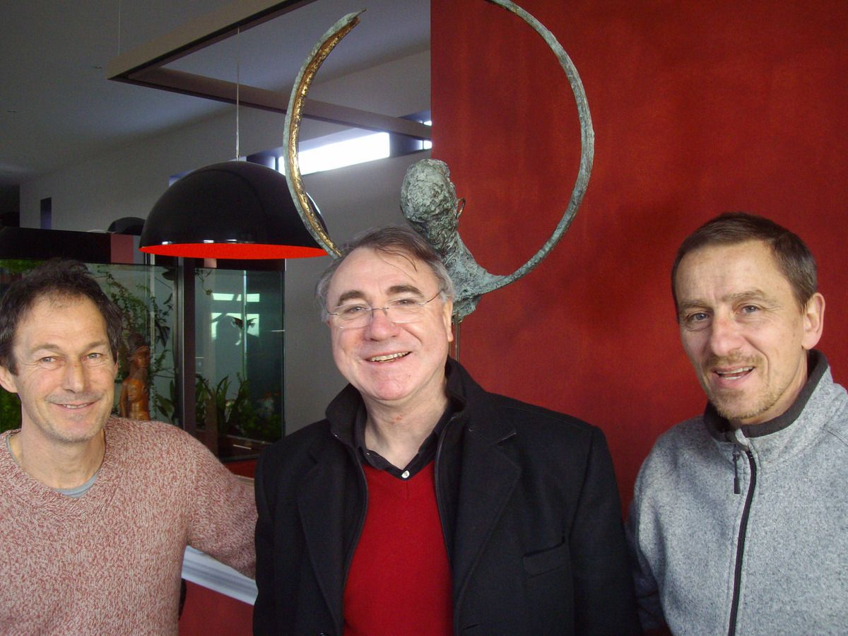 Pascal Lacombe, Pierre Coureux, Guy Ferrer (à droite) - photo J.P.Bonnel