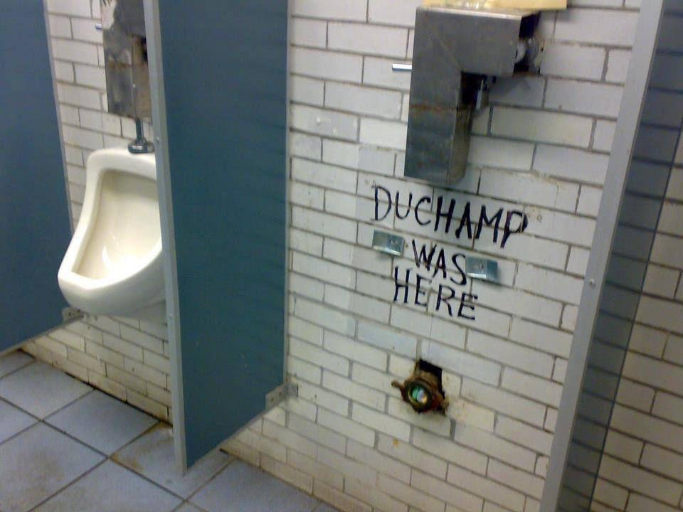 """Bidet (Fontaine) de Duchamp : """"Duchamp est passé par là !"""""""