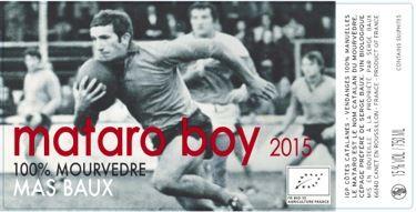 Mataro Boy du Mas Baux (étiquettes)
