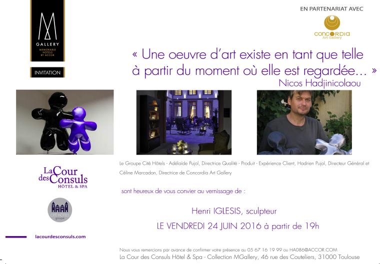 """H. Iglesis à Toulouse - Demain samedi : sur l'expo """"le portrait et le pouvoir"""" : Yes I can !"""