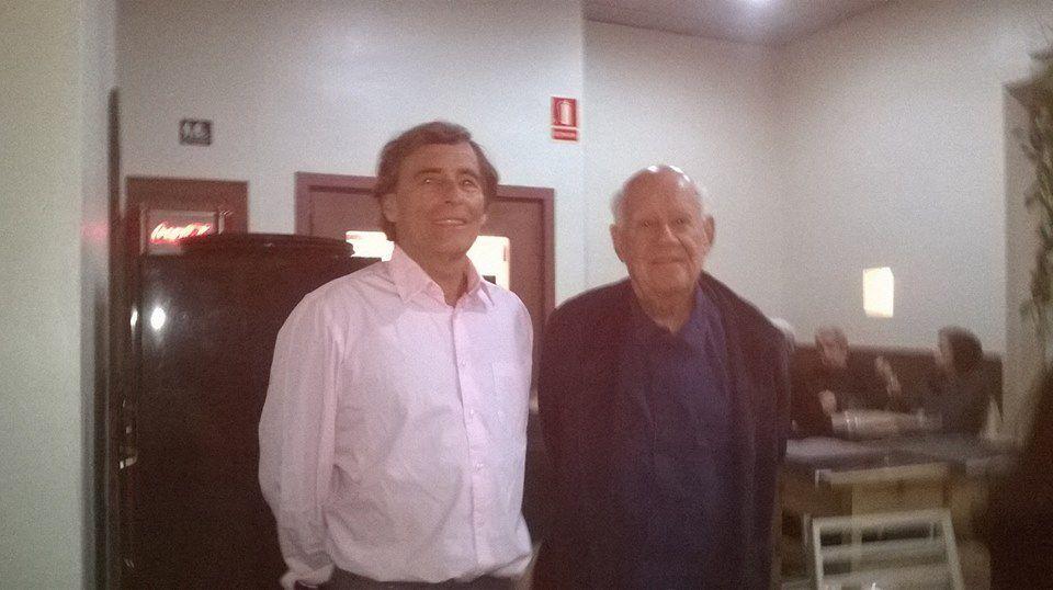 Conférence au théâtre de l'Archipel (JPB avec Hanna Fiedrich) - Avec Dany Karavan à Port-Bou - Conférence d'Alain Badia à Banyuls -  Une partie de l'équipe à la librairie Torcatis à Perpignan-