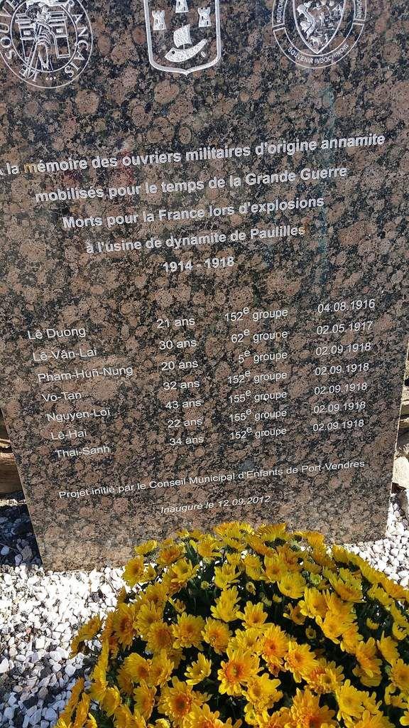 Machado à Collioure - Anamites tués lors d'explosions à l'usine Nobel de Paulilles (cimetière de Cosprons)
