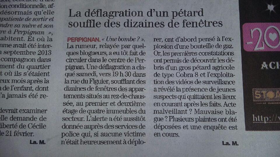 Martin FOURCADE - Article de L'Indépendant