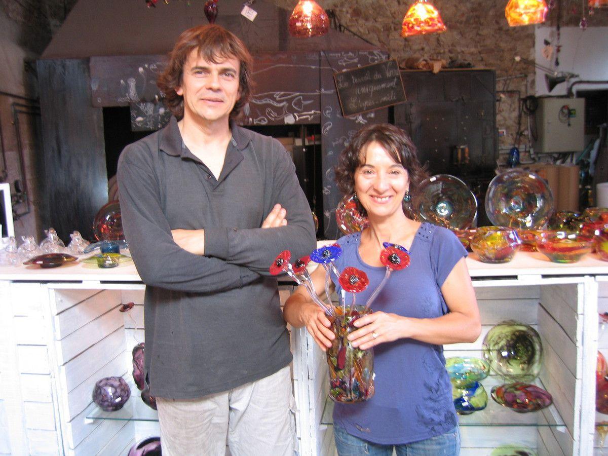 Laure Maltese - Romain - Valérie - Sylvain Magny et Véronique Carvalho, atelier  La Tour des 4 Vents. (photos Jean IGLESIS)