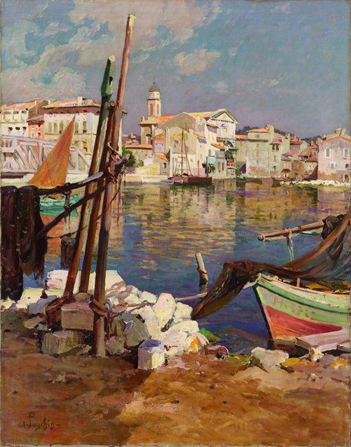 Ponchin A. :  Bord de côte à Martigues