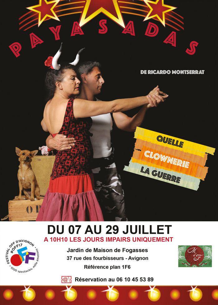 FETE DE ST JACQUES 23 JUILLET 2017 - La clownerie de la guerre - Eté à Riquer - Concert de guitare par Médéric Tabart - Retirada en Avignon -