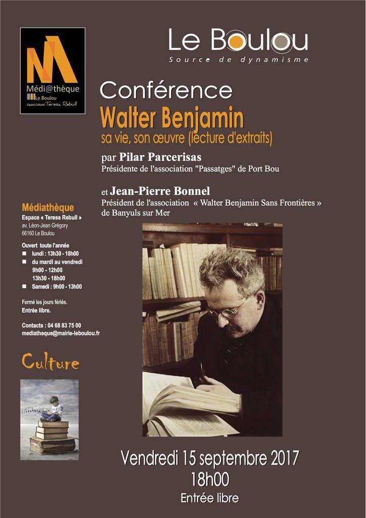 Pilar Parcerisas - Conférence sue les musées à Barcelone par James RONDEAU - Conférence W.Benjamin au Boulou