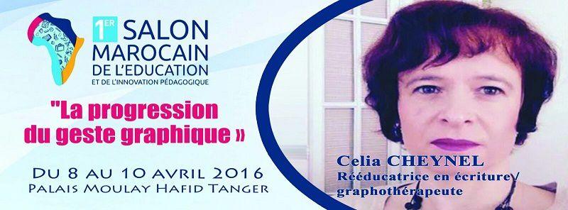 Célia Cheynel, graphothérapeute, nous fera le plaisir d'être avec nous !