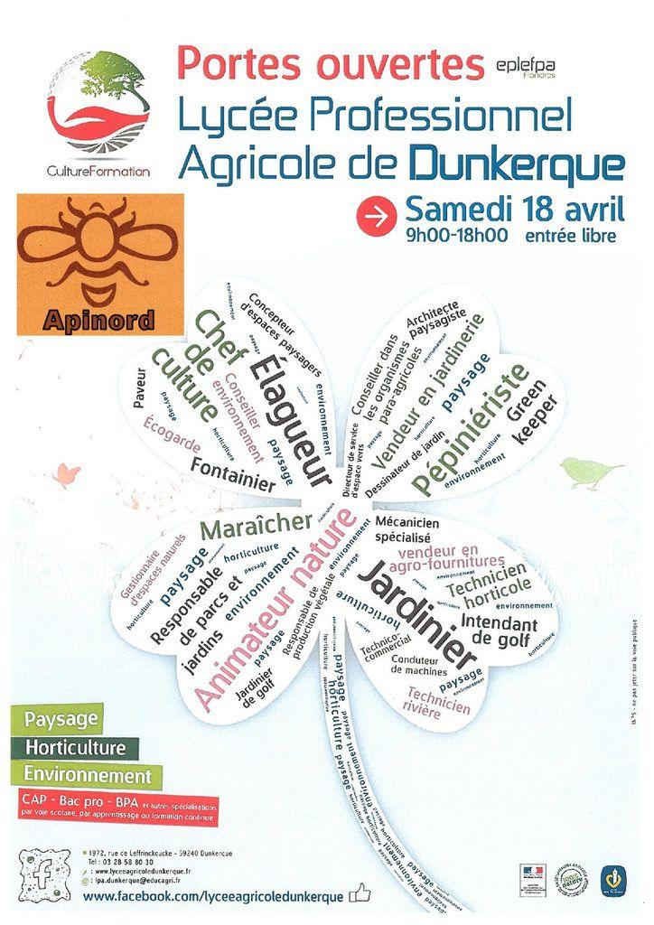 Apinord Dunkerque et la Journée Portes Ouvertes du Lycée Agricole de Dunkerque