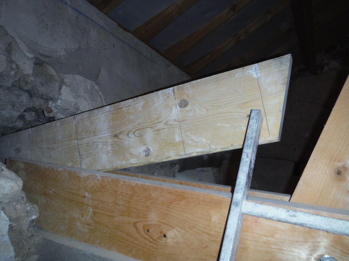 On coule les côtés et le linteau de la 2ème baie vitrée!