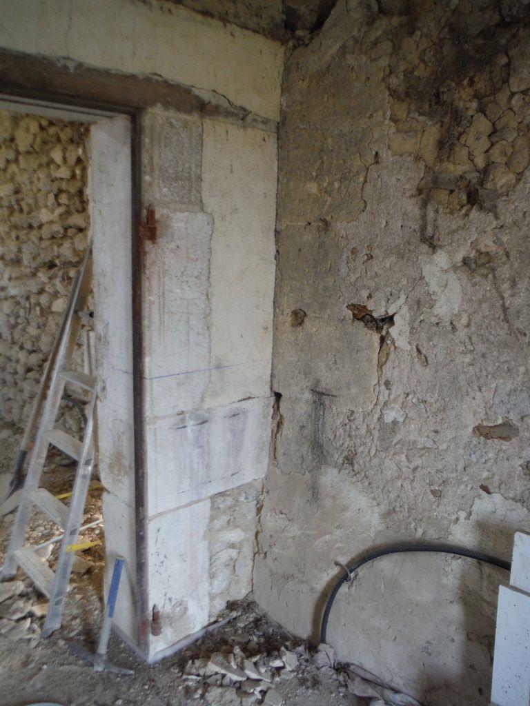 Piquetage des murs (suite)