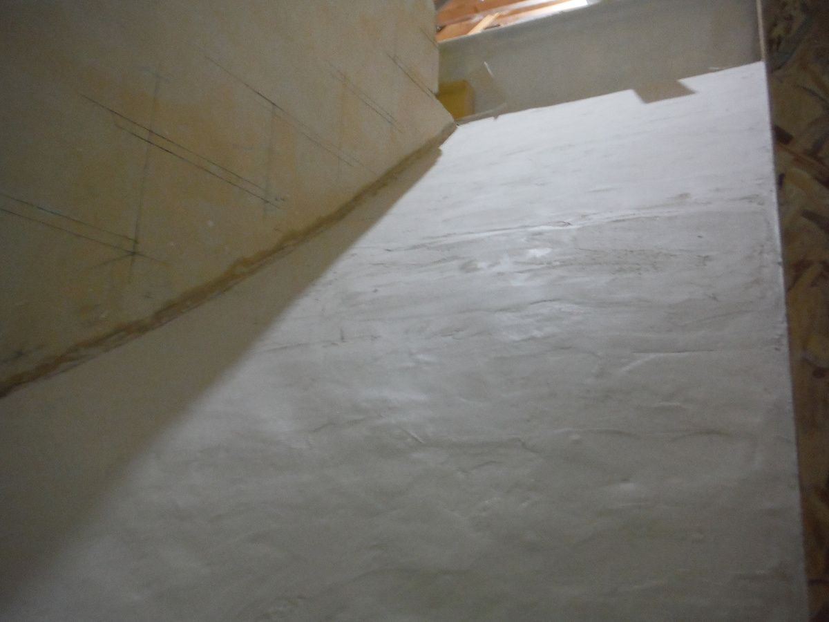 Coffrage de l'escalier!