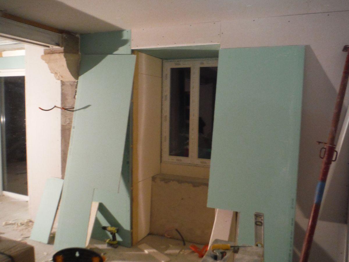 isolation et placo des encadrements de fenêtres!