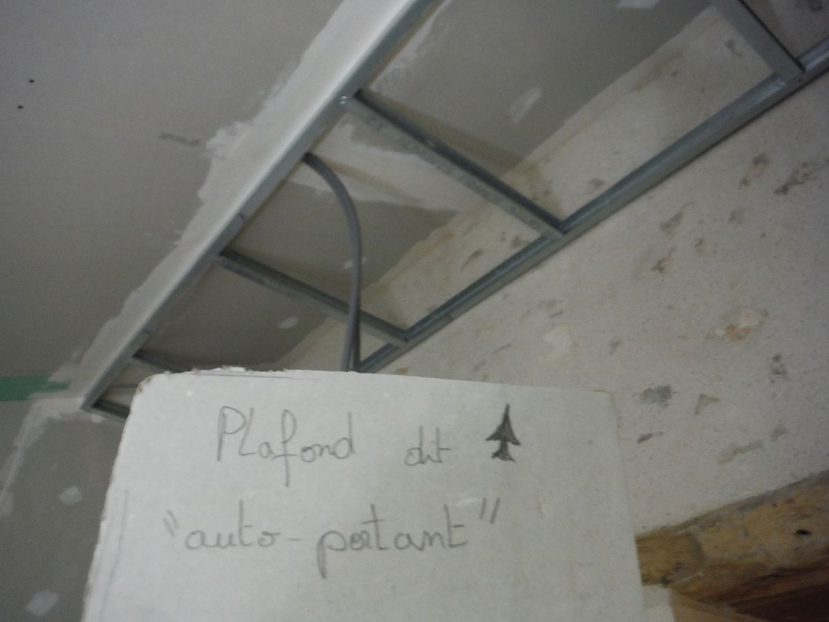 plafonds, passage de gaines, isolation et placo!
