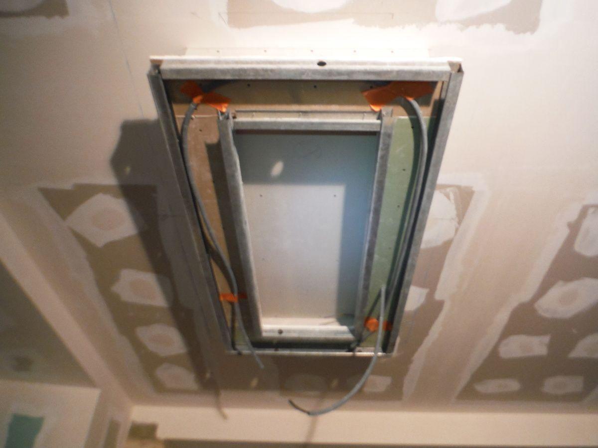 Fabrication du luminaire de la salle à manger!