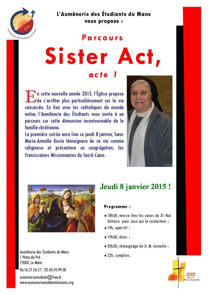 Parcours sur la vie consacrée : Sister Act, acte 1