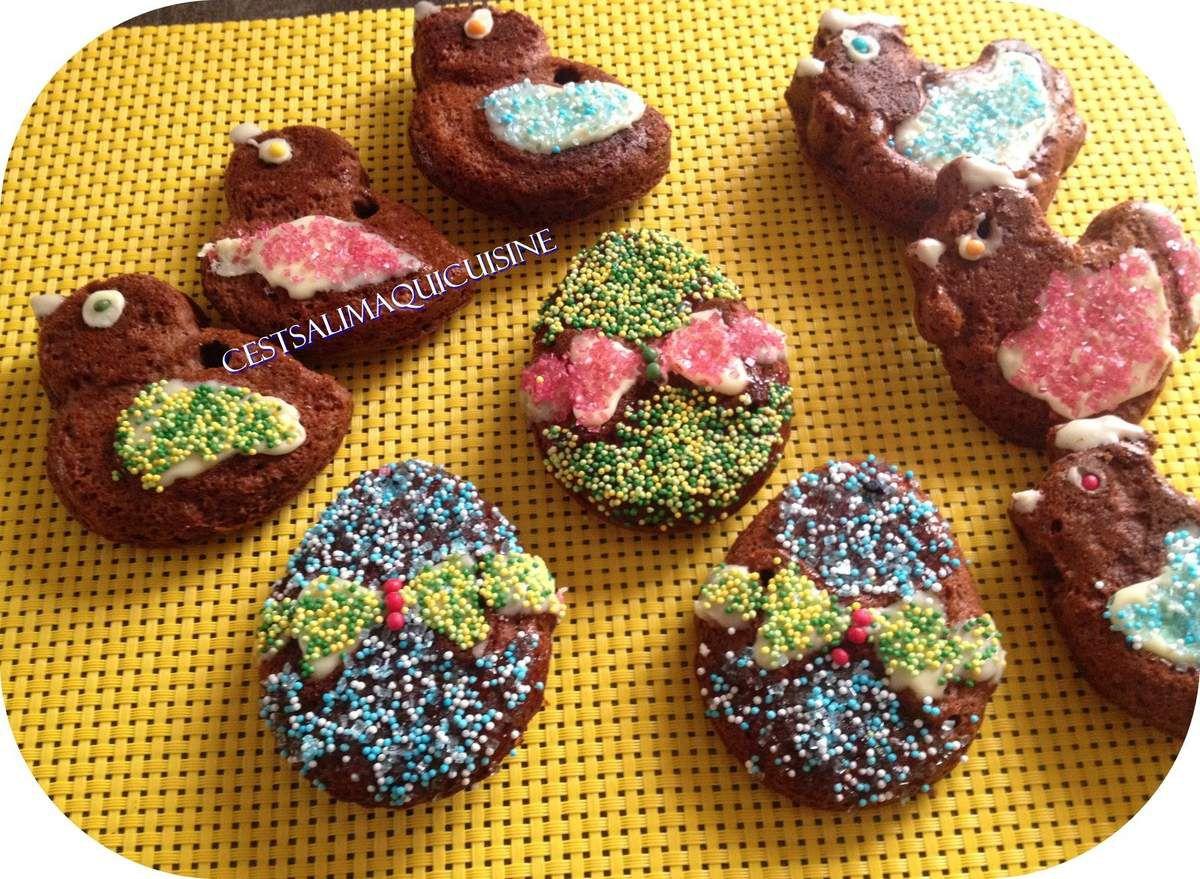Gâteaux en motifs de Pâques