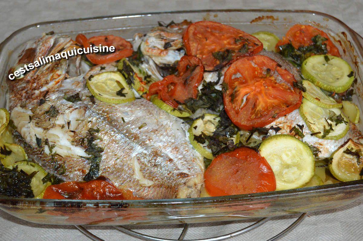 Recettes autour d'un ingrédient #15 Daurade au four aux légumes