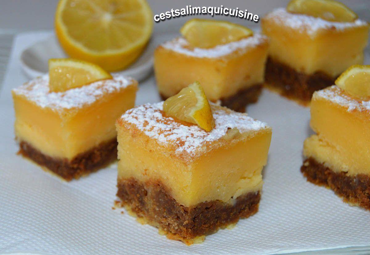 Recette autour d'un ingrédient #16 carrés au citron et spéculoos