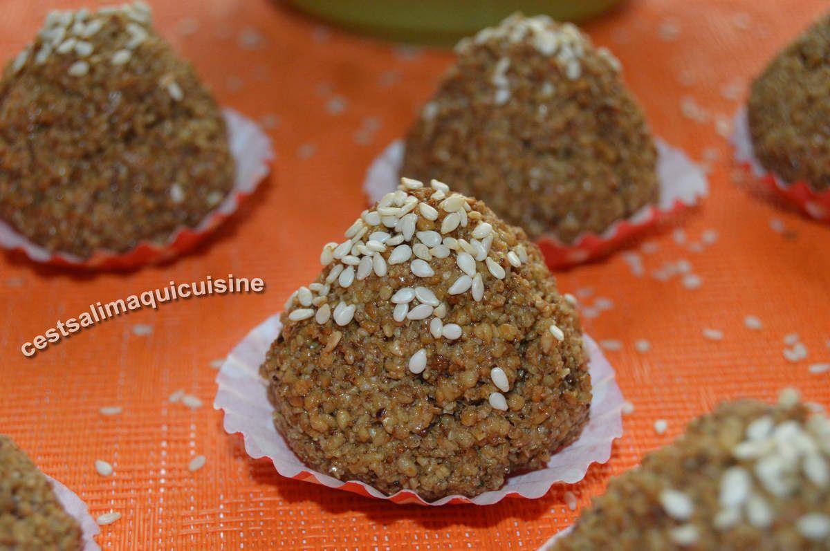 Recette autour d'un ingrédient #19  les grains de sésame  : Montécaos aux graines de sésame