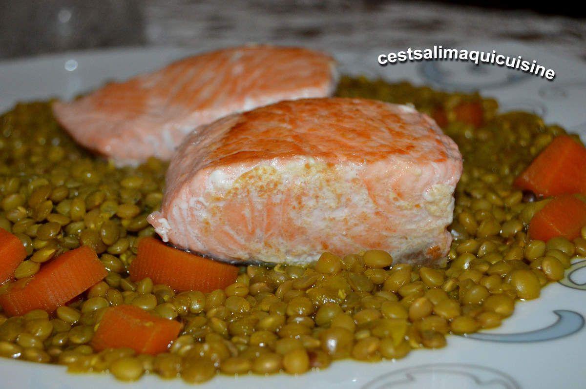 Pavés de saumon aux lentilles