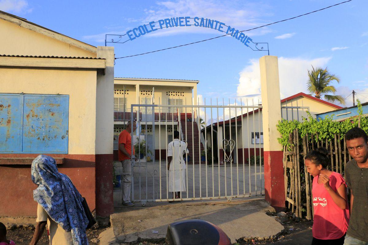L'entrée de l'école Sainte Marie.