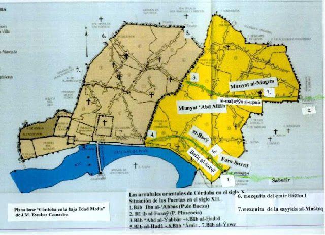 Plano Córdoba musulmana