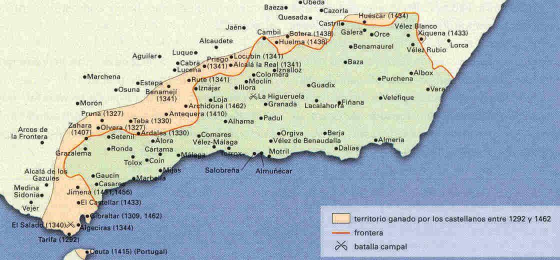 Mapa Guerra de Granada