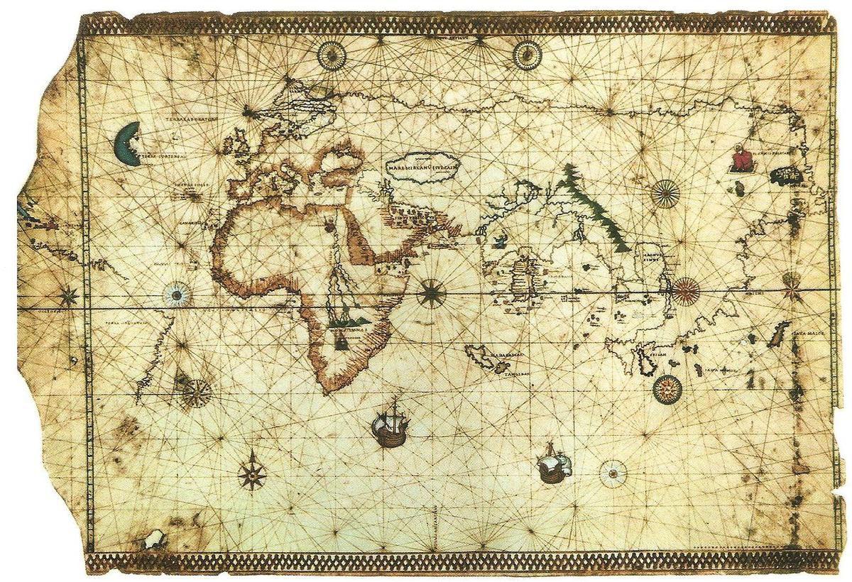 Mapa del Tratado de Tordesillas