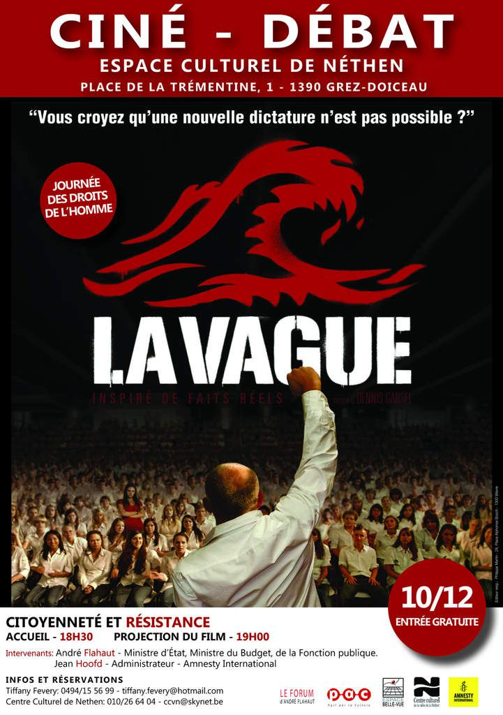 Film La Vague - 10 décembre 2014