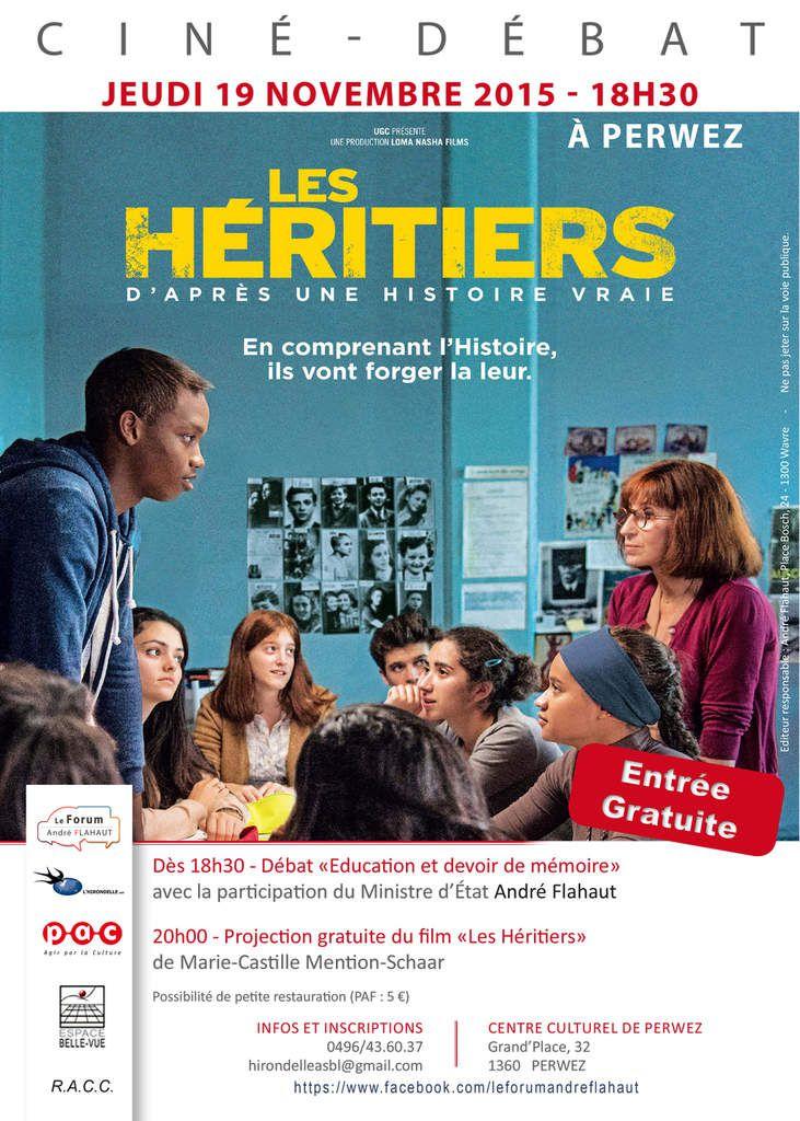 Ciné-Débat &quot&#x3B;Les Héritiers&quot&#x3B; à Perwez le 19/11