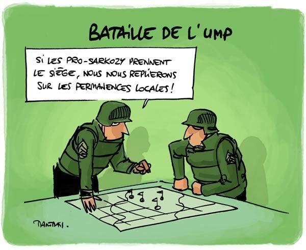 DESSIN de TARTRAIS : La bataille de l'UMP !