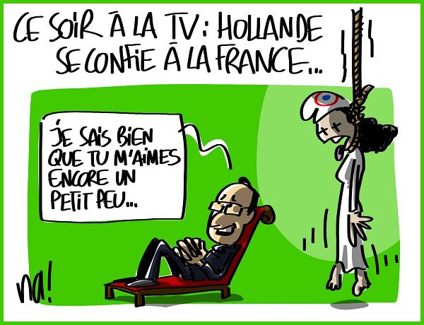 DESSIN de NA : Confessions intimes de François Hollande ! !