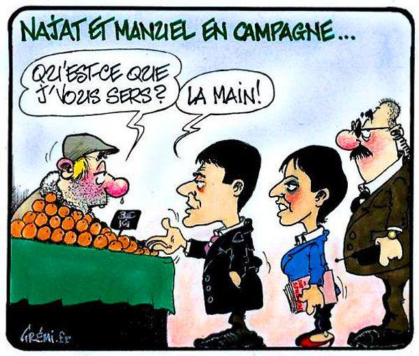 DESSIN de GREMI : Valls en campagne !