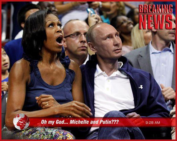 FAKE : Michelle Obama fricoterait avec Poutine !