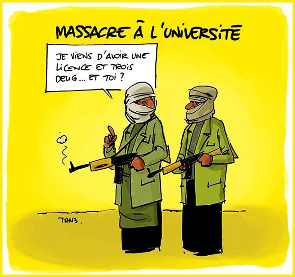 DESSIN de TARTRAIS : Massacre à l'université !