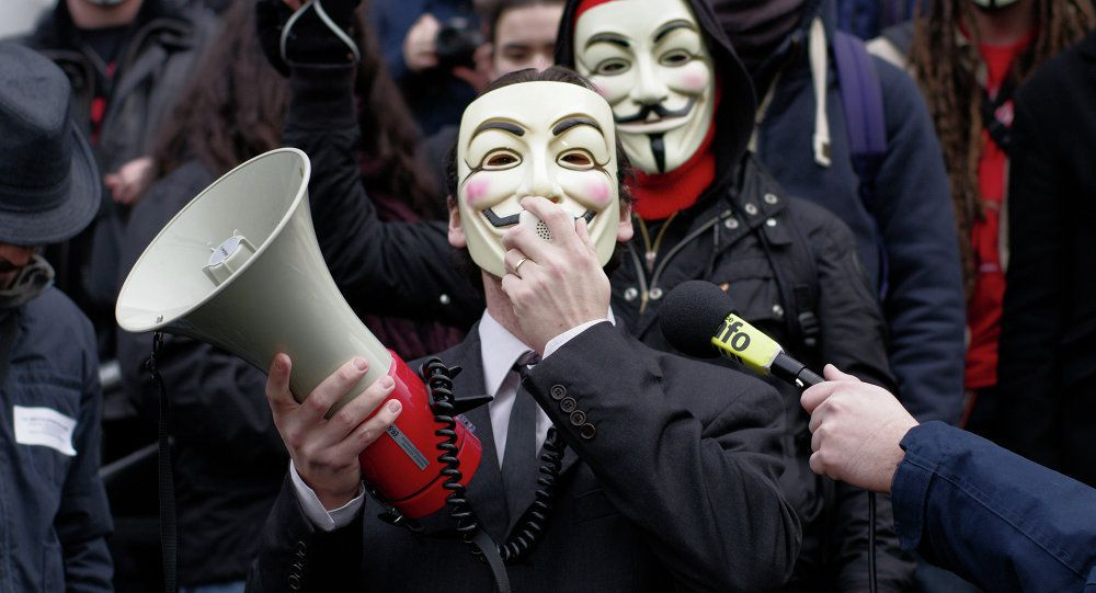Photo Manifestation d'Anonymous