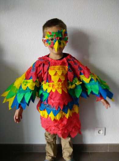 Diy costume perroquet enfant