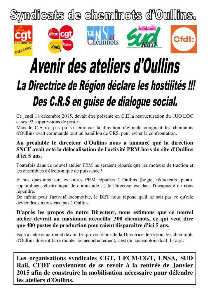 [Echos de luttes] Les cheminotEs en lutte contre la réorganisation et les projets de fermeture des ateliers d'Oullins