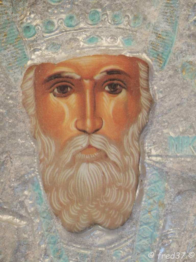 Icone d'Agio Nicholaos c'est à dire Saint Nicolas