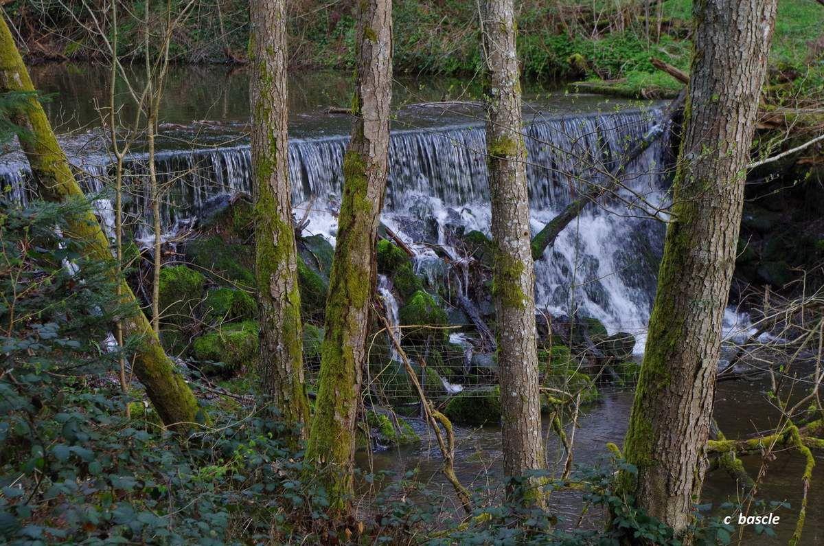 Chute  sur le ruisseau des Grosliers.