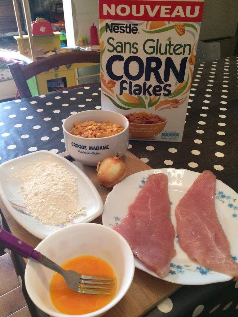Nuggets de poulet aux corn flakes sans gluten
